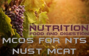 Chapter 12 Nutrition MCQs